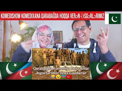 KomediShow KomediXana Qarabağda Hoqqa Verən Əsgərlərimiz   Pakistani Reaction   Subtitles