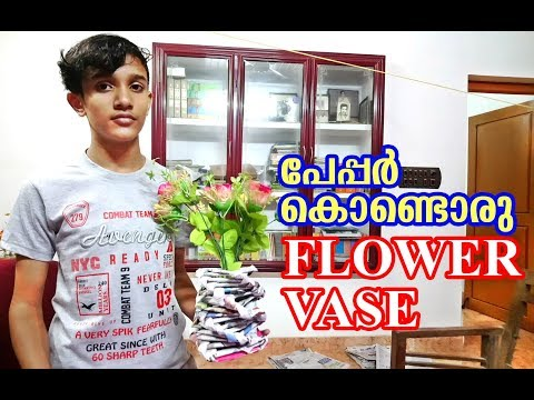 paper DNA flower vase (simply savari)