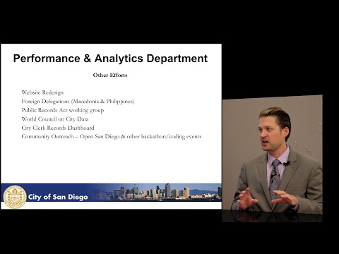 City of San Diego: Performance & Analytics Dept. Overview