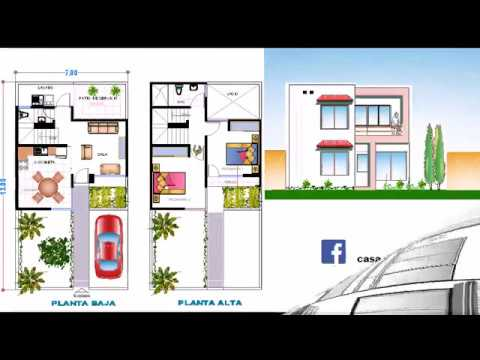 Plano Casa Terreno 7 X 15 Metros Youtube