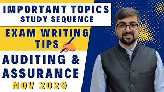 Important Topics, Study Sequence and Exam writing Tips For Auditing November 2018