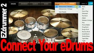 How To Use EZDrummer 2: With An Electronic Drumset