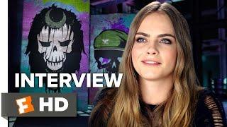 Suicide Squad Interview - Cara Delevigne (2016) - Action Movie