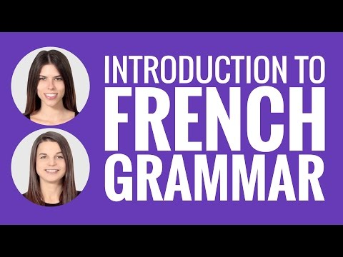 Introduction to French - French Grammar