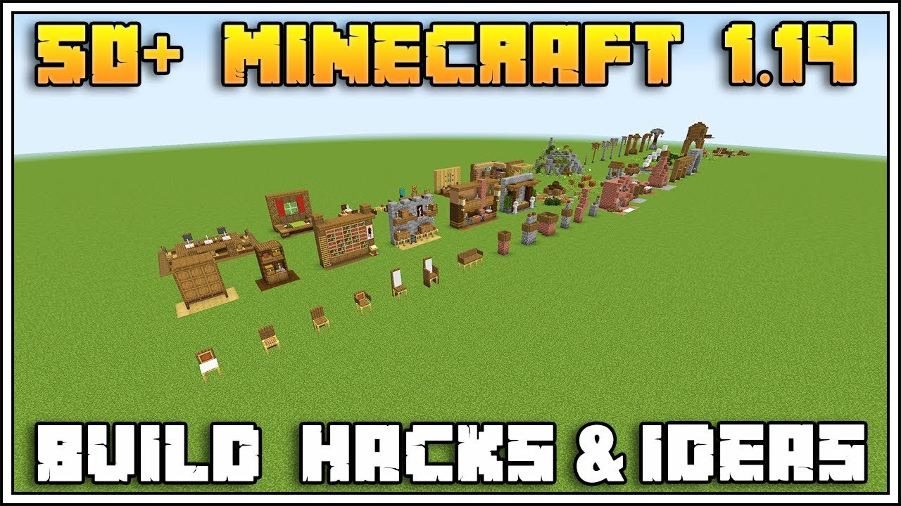 50+ MINECRAFT 1.14 BUILD HACKS AND IDEAS - YouTube