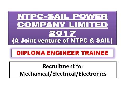 Diploma Engineers recruitment at NTPC SAIL Power Company Ltd