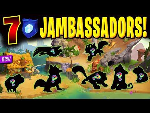 THE 7 NEW JAMBASSADORS ON ANIMAL JAM!!!
