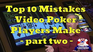 """Top 10 Mistakes Video Poker Players Make with Mike """"Wizard of Odds"""" Shackleford - part two"""