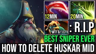 12Min Desolator [Sniper] How to Destroy Solo Midlane Huskar BEST SNIPER PLAYER BY FN DOTA 2 7.20e