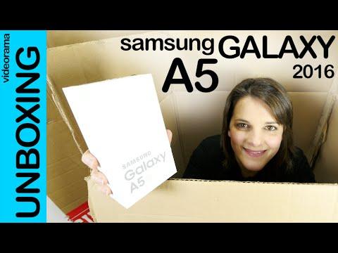 Samsung Galaxy A5 2016 unboxing en español | 4K UHD
