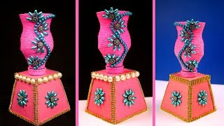 How to make best out of waste showpiece/flower vase at home | Home decorating idea | DIY crafts