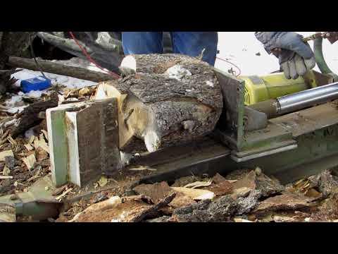 Homemade electric wood splitter