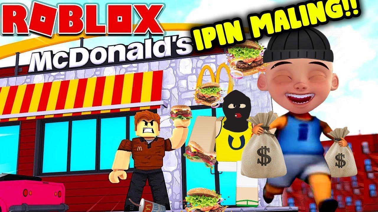 Download Opah sedih!upin ipin jadi maliingg mcdonalds burger!!!ROBLOX UPIN IPIN