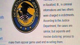 FBI arrest 6 Sports Memorabilia Dealers selling Fake Game Used Jerseys