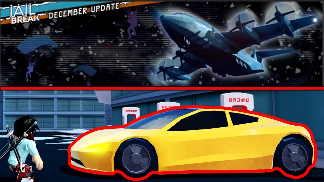 ROBLOX Jailbreak New Cargo Plane Robbery And SKY DIVING Update!!