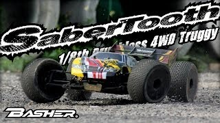 Hobbyking Product Video - Basher Sabertooth 1/8th 4wd Brushless Truggy
