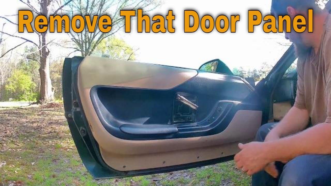 C4 Corvette Door Panel Removal Installation Youtube