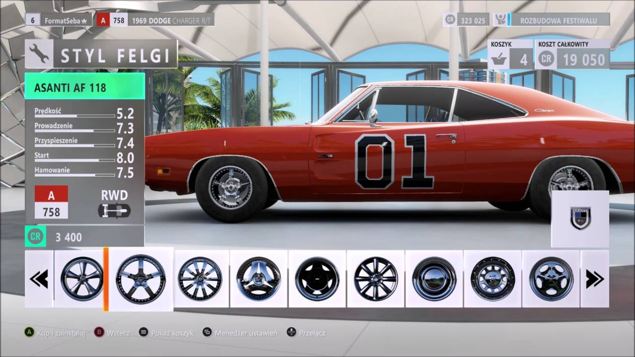 Dodge car tuning part 3 - Forza Horizon 3 Tuning Dodge Charger R T 1969 General Lee 5