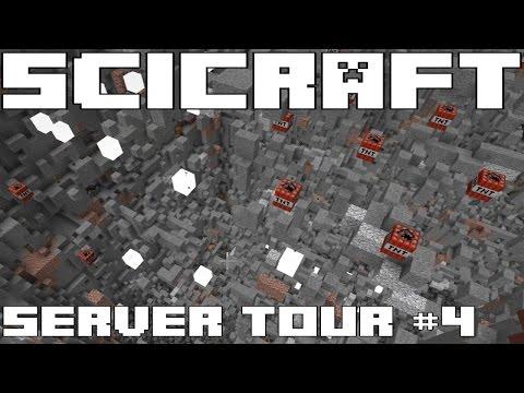SciCraft Minecraft Server Tour #4 - SUPER FAST GOLD FARM & TNT MINING FOR FRIENDLY MOB FARM