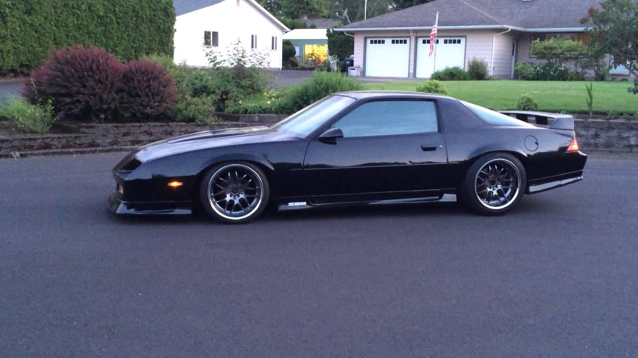 Slammed And Stanced 91 Camaro Z28 Youtube