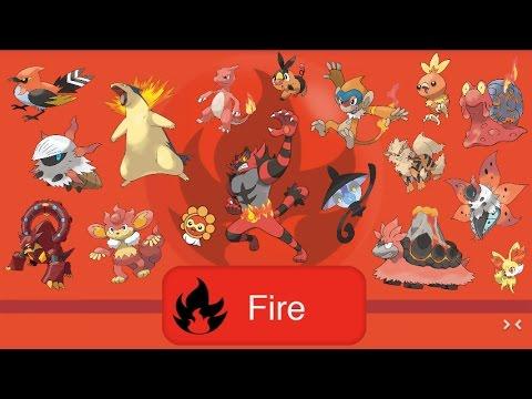 all fire type pokémon youtube