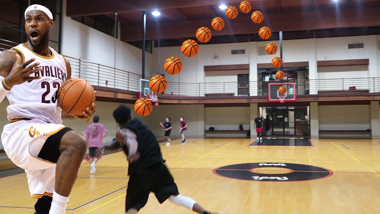 The lebron james full court shot challenge 7 player for Making a basketball court