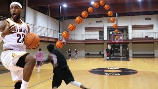 THE LEBRON JAMES FULL COURT SHOT CHALLENGE! 7 PLAYER BASKETBALL CHALLENGE!