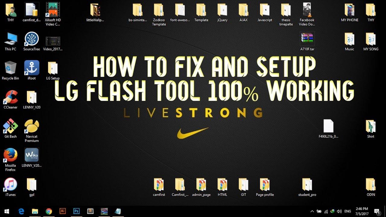 fix lg flashtool 100% working on windows 10/8/7