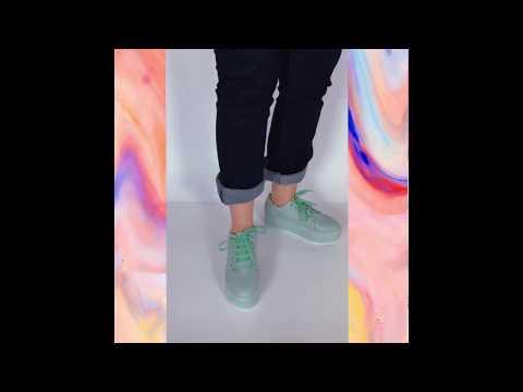 EMMA tênis - verde claro (vegan)