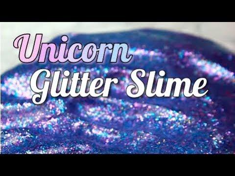 Diy Unicorn Glitter Slime Hg Craft Hellogiggles Youtube