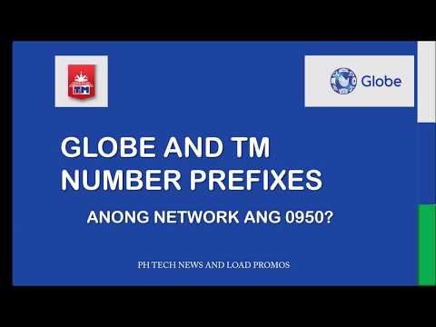 GLOBE AND TM NUMBER PREFIXES 2019