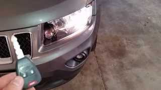 2014 Jeep Compass - Testing Key Fob After Changing Battery - Parking Lights Flashing