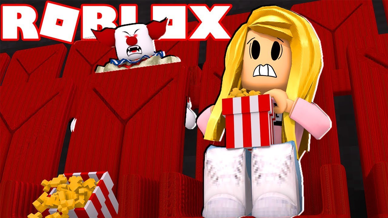 Watching The Scariest Movie At The Cinema Roblox Youtube