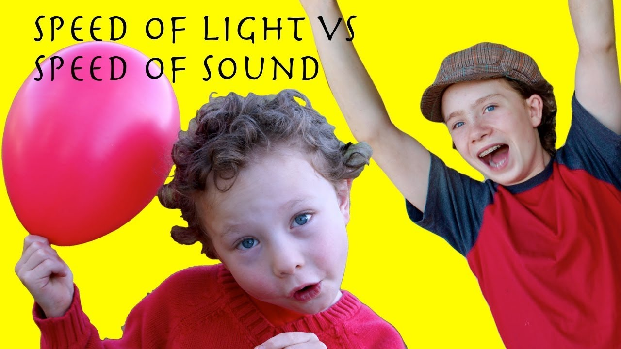 the speed of light and sound science fun with balloons for kids