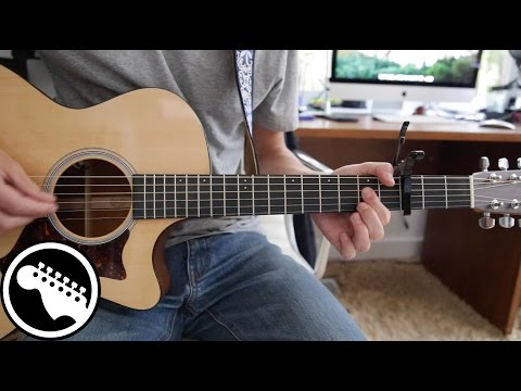 """""""Free Fallin'"""" by John Mayer Live - Acoustic Guitar Lesson (Originally played by Tom Petty)"""