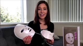 Project E Beauty Wireless Facial & Neck LED Photon 7 Color Light Skin Acne Wrinkle Beauty Mask PE706