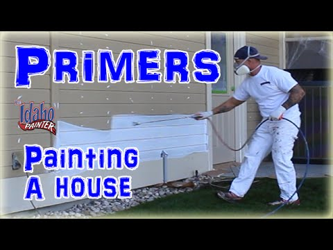 Using Oil Primers Painting A House.  House Painting Tips And Oil Priming.