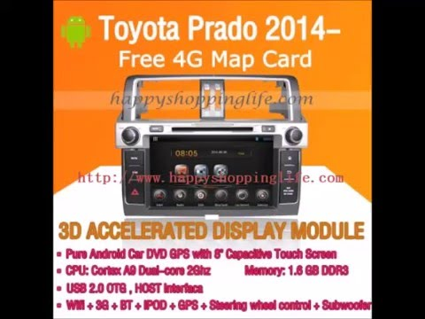 Toyota Land Cruiser Prado 2014-2015 Android Car DVD Player GPS Radio Wifi 3G