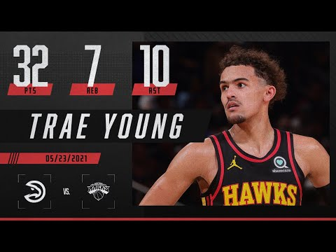 Trae Young's playoff debut is 🔥   2021 NBA Playoffs