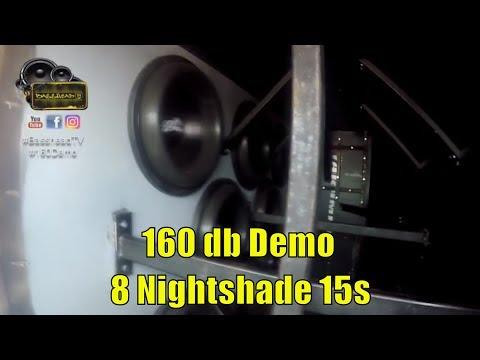 160 DB Car Audio Demo Candy Van - 8 Otis Designs 15s In A 6th Order