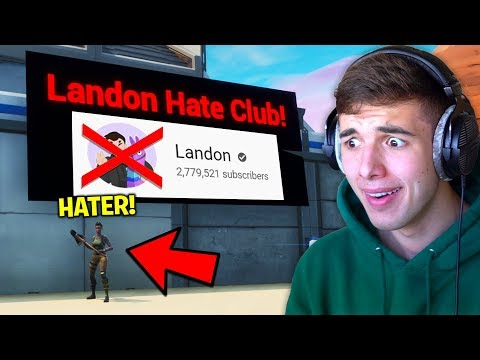 """I Secretly Joined His """"LANDON HATE CLUB"""".. then it got serious.. (Fortnite)"""
