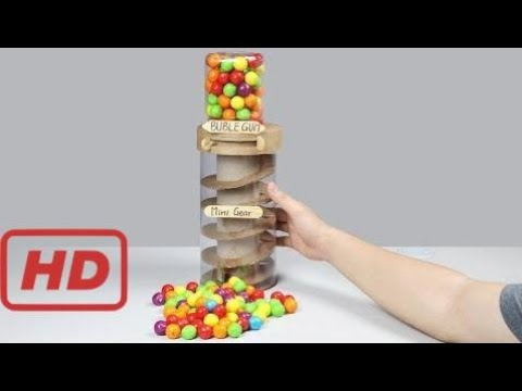 guauu! Increíble Dubble Bubble Máquina De Chicles Diy - YouTube