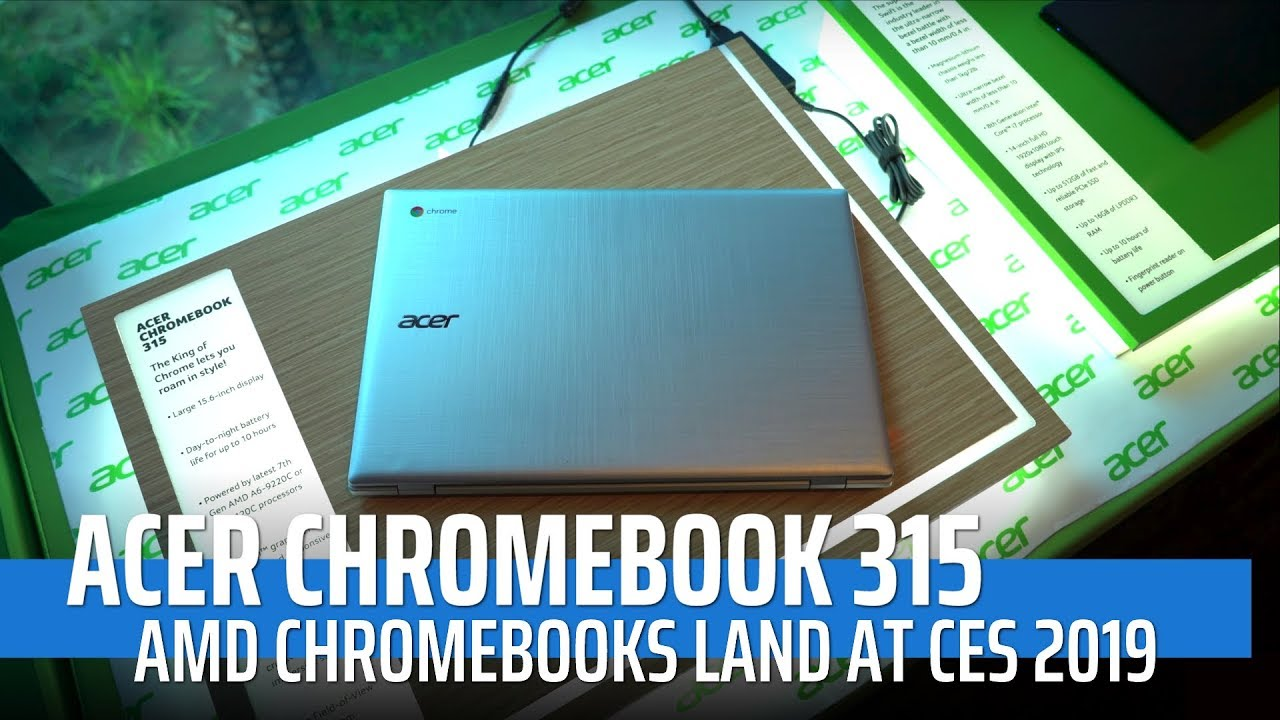 Ces 2019 Acer Chromebook 315 Amd First Impressions Youtube