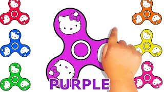 Fidget Spinner Drawing - Baby Play and Learn About Colors - Coloring Arts For Kids