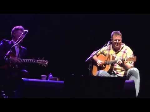 """Vince Gill incredible acoustic version """"Whenever You Come Around"""" with Lyle Lovett"""