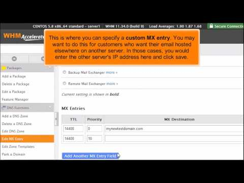 How to manage DNS zones in WHM