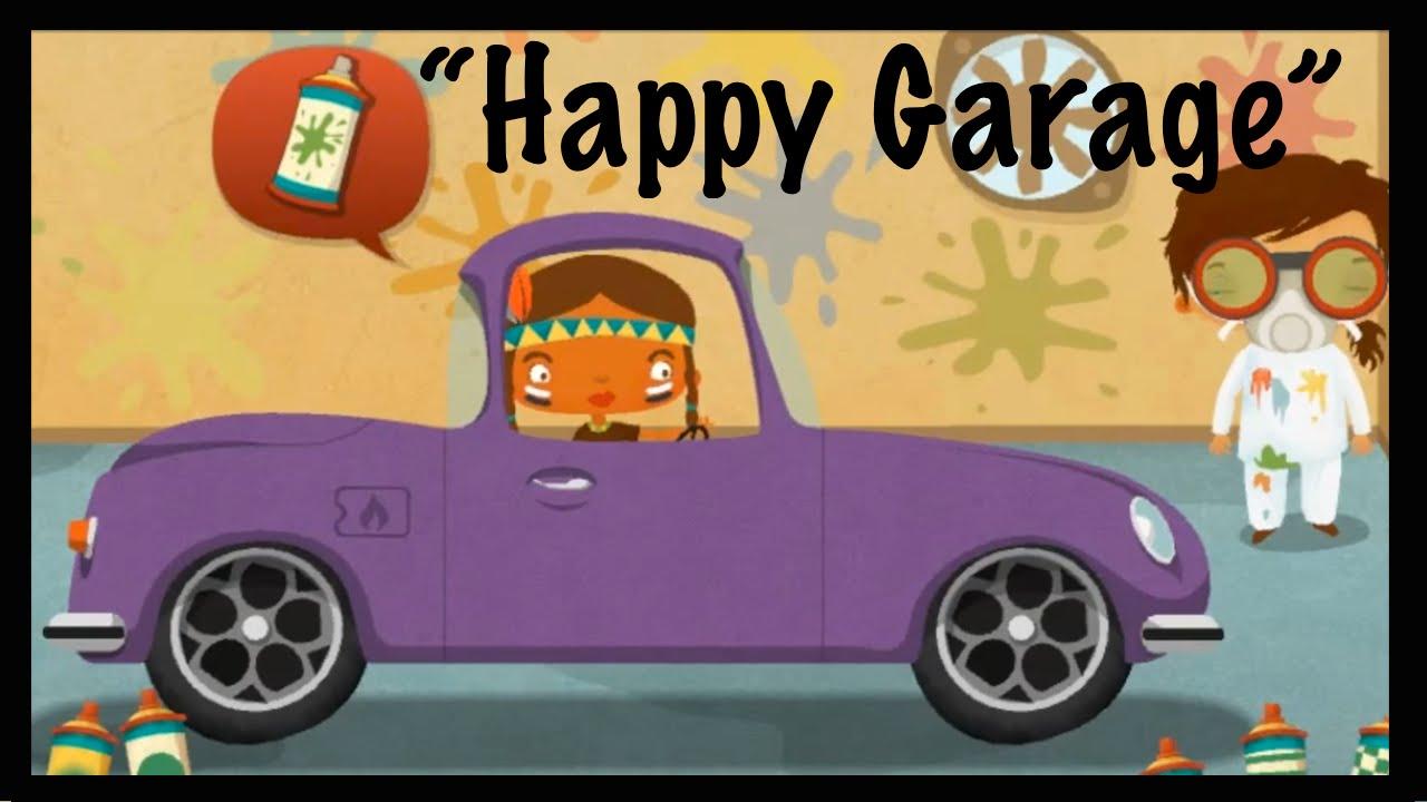 Cartoons for kids fun apps for children happy garage for Garage happy car