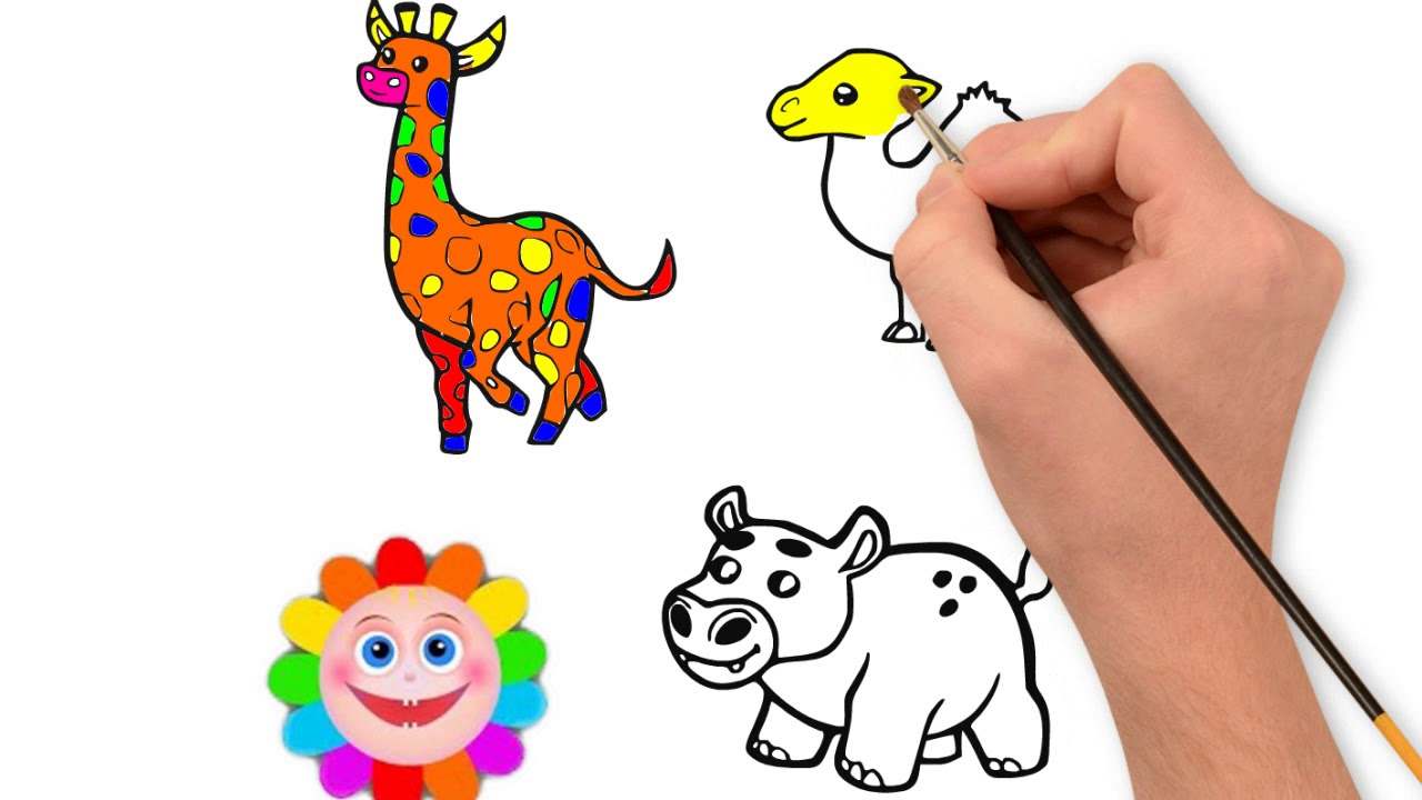 How To Draw So Cute 3 Animals Drawing Animals Coloring Pages Youtube