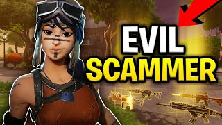 Evil Scammer With Modded Hydra! Scams Himself! (Scammer Get Scammed) Fortnite Save The World