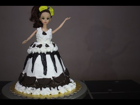 How to make barbie cake at home without oven